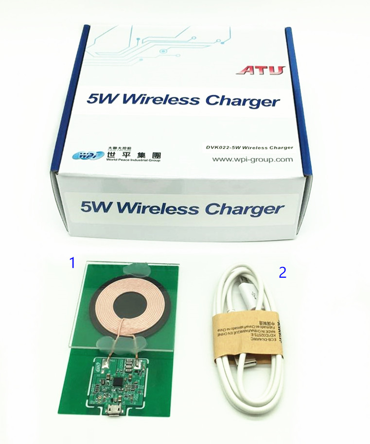 Brand : WPI<br/>Partno : DVK022-5W WIRELESS CHARGER