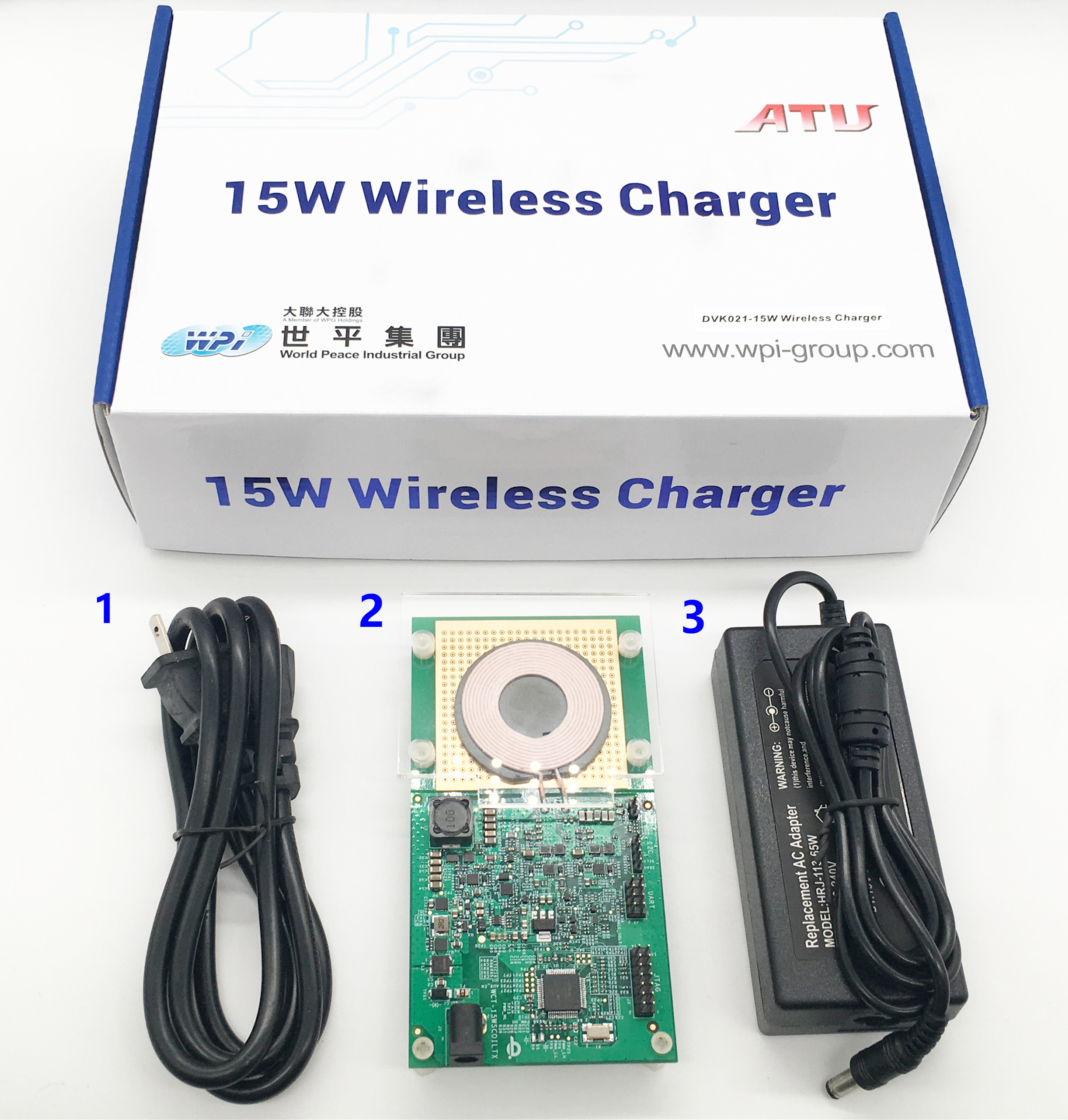 Brand : WPI<br/>Partno : DVK021-15W WIRELESS CHARGER